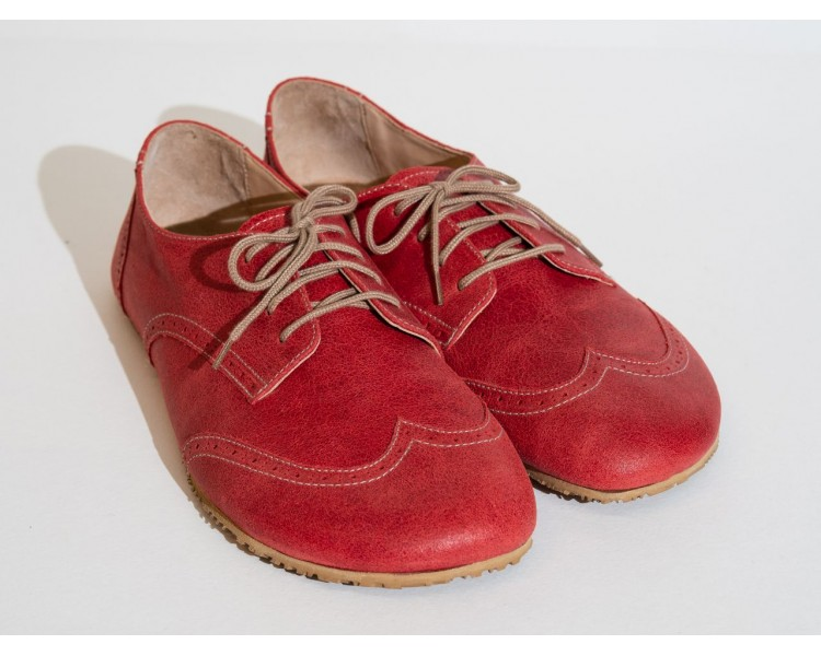red oxford shoe